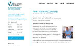 Praxis für Zahnheilkunde und Implantologie Peter Albrecht