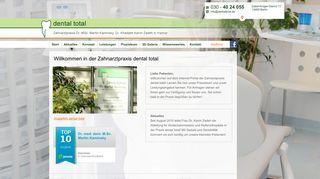 dental total - Zahnarztpraxis Dr. Martin Kaminsky & Partner