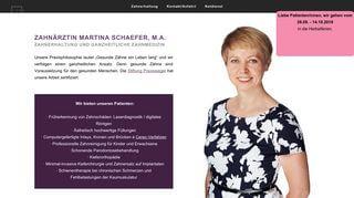 Zahnärztin Martina Schaefer - Ganzheitliche Zahnmedizin