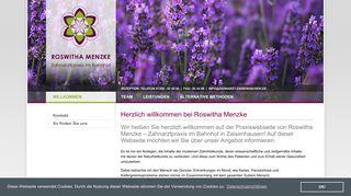 Zahnarztpraxis Roswitha Menzke in Zaisenhausen