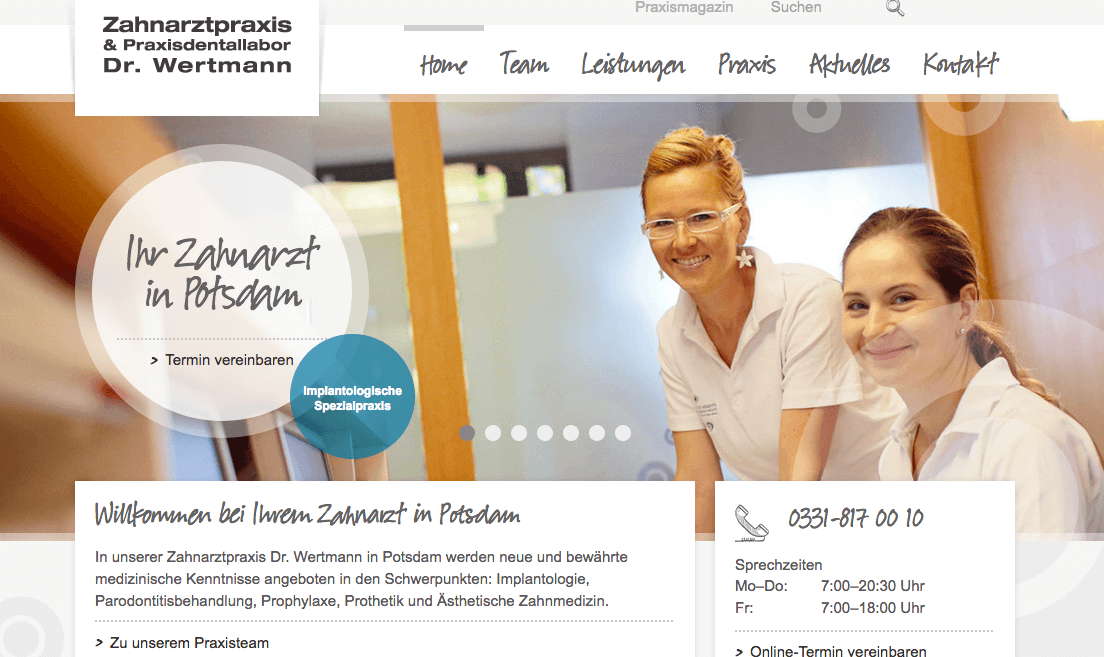 Zahnarztpraxis & Praxisdentallabor Dr. Frank Wertmann