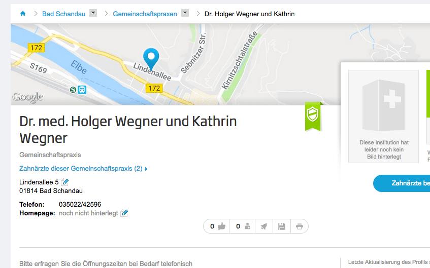 Gemeinschaftspraxis Dr. med. Holger Wegner und Kathrin Wegner