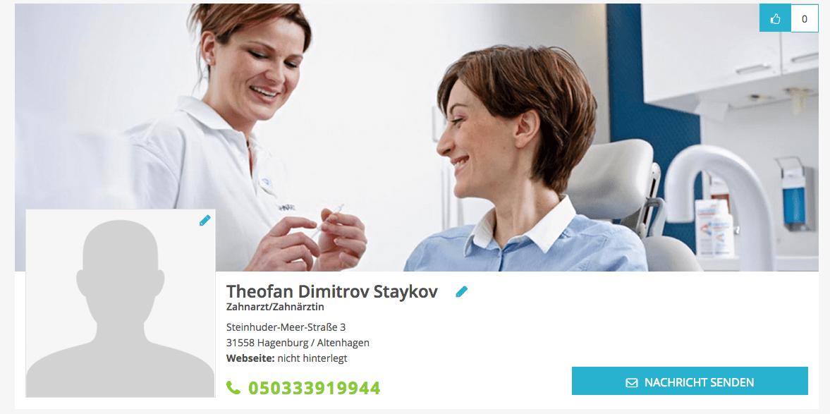 Zahnarzt Theofan Dimitrov Staykov