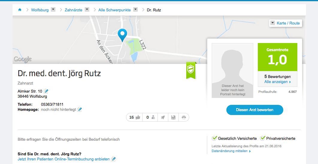 Ärzte für ganzheitliche Zahnmedizin Dr. Jörg Rutz