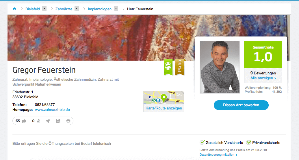 Zahnarztpraxis Gregor Feuerstein