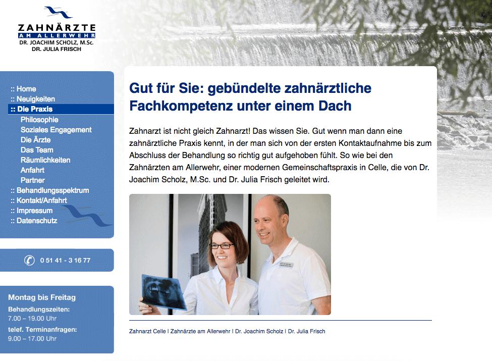 Zahnärzte am Allerwehr | Dr. Joachim Scholz | Dr. Günter Pütz | Dr. Julia Frisch