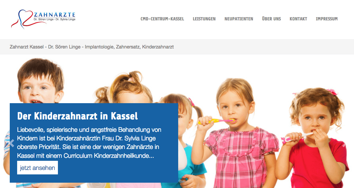 Zahnarzt Kassel - Dr. Sören Linge - Implantologie, Zahnersatz, Kinderzahnarzt