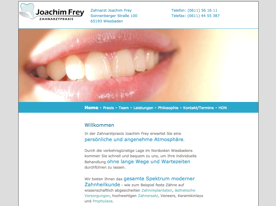 Zahnarztpraxis Wiesbaden - Joachim Frey