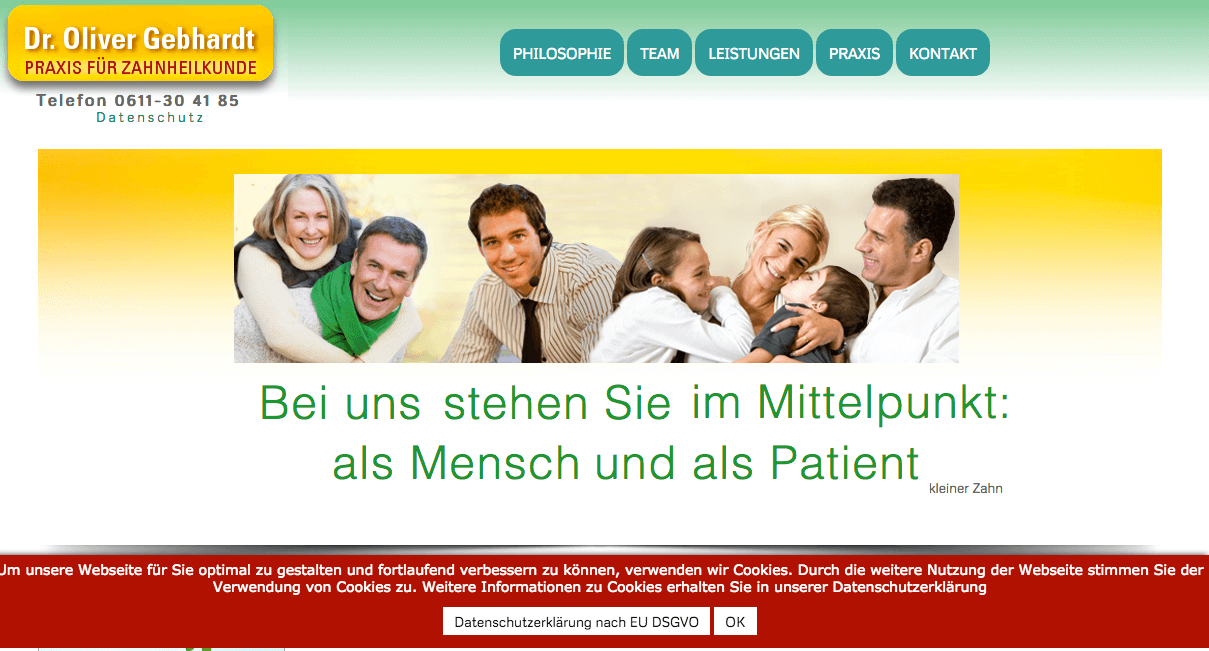 Dr. Oliver Gebhardt • Praxis für Zahnheilkunde