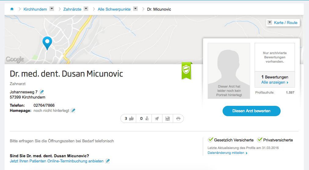 Dr. med. dent. Dusan Micunovic
