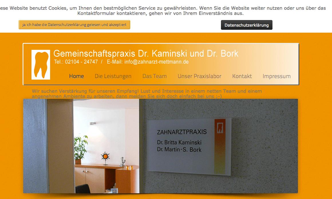 Zahnarztpraxis Dr. Britta Kaminski Dr. Martin-Stefan Bork
