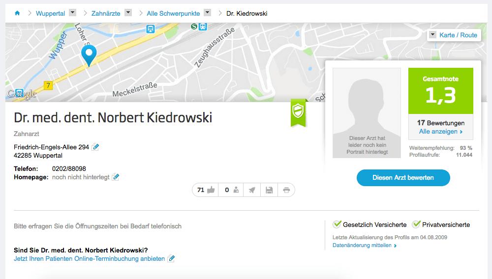 Dr. med. dent. Norbert Kiedrowski