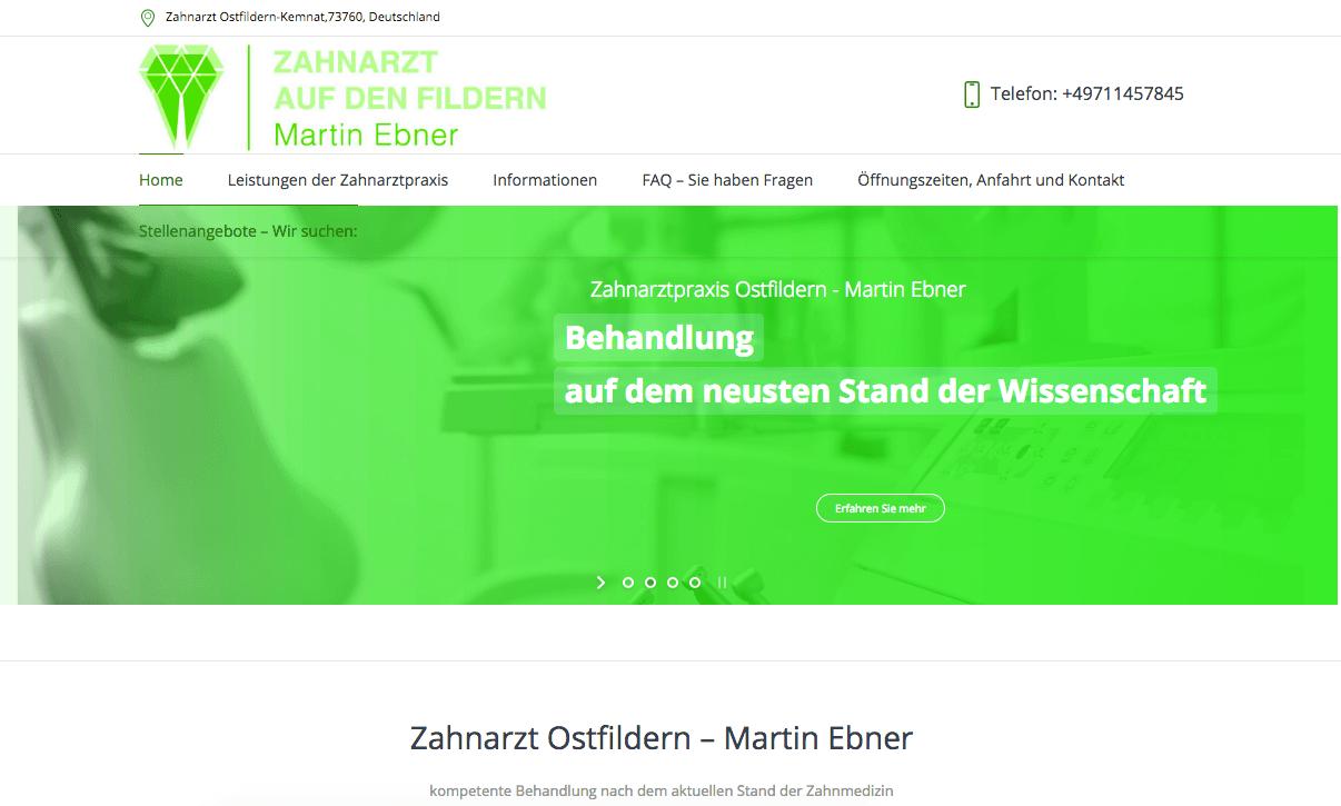 Zahnarzt auf den Fildern - Martin Ebner