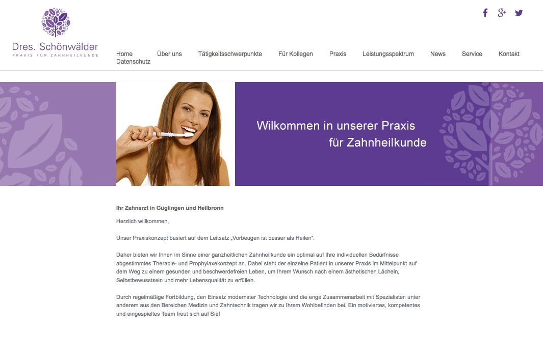 Praxis für Zahnheilkunde - Dres. Nadine & Philipp Schönwälder