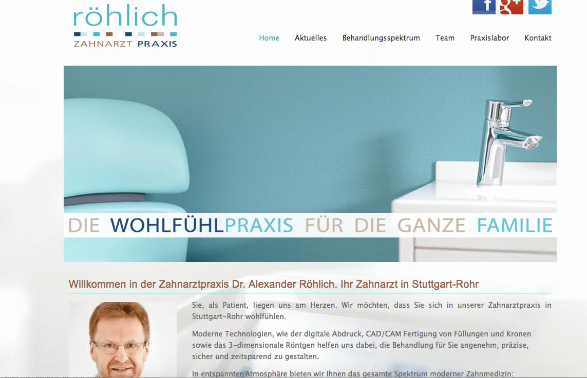 Zahnarzt in Stuttgart-Rohr - Dr. Alexander Röhlich