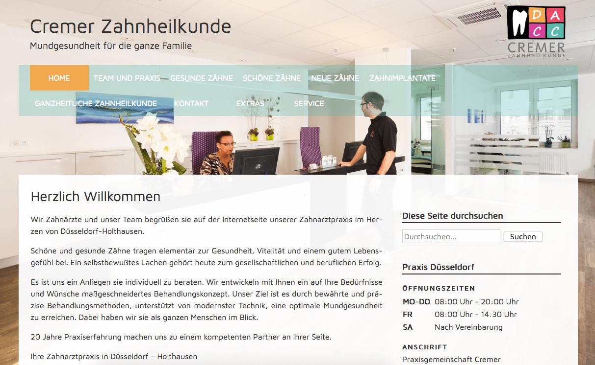 Cremer Zahnheilkunde - Praxisgemeinschaft Dr. Dirk Cremer - Antje Cremer - Claas Cremer