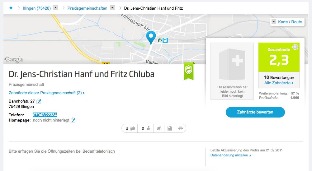 Dr. Jens-Christian Hanf und Fritz Chluba