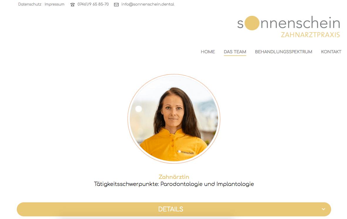 Sonnenschein Zahnarztpraxis - Eva-Liisa Soonsein