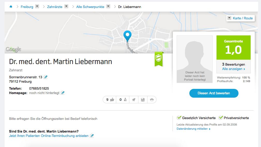 Dr. med. dent. Martin Liebermann