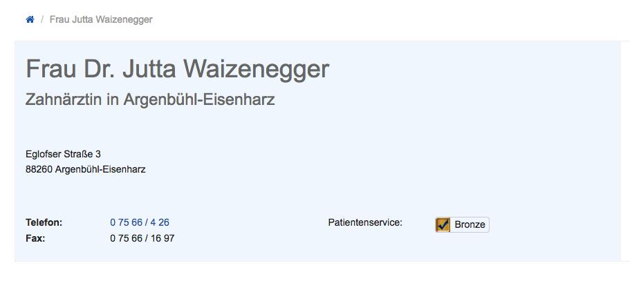 Dr. Jutta Waizenegger