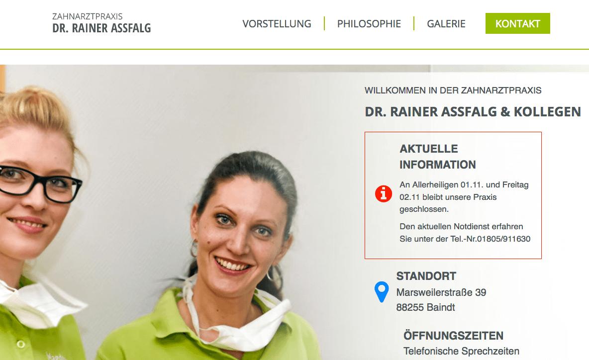 Zahnarztpraxis Dr. Rainer Assfalg und Kollegen