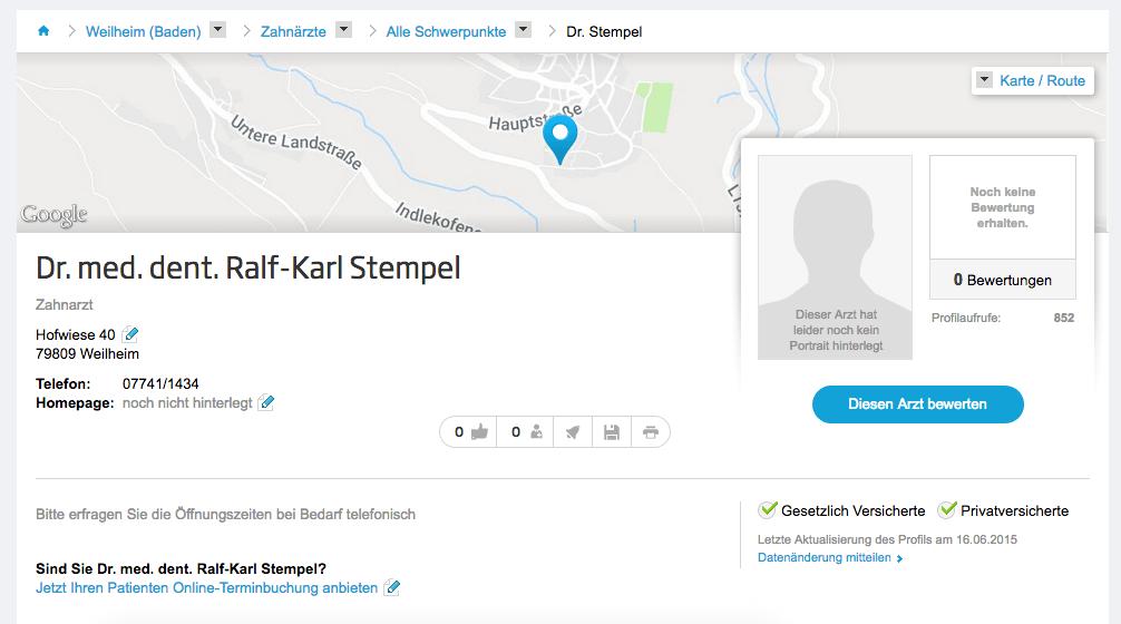 Dr. med. dent. Ralf-Karl Stempel