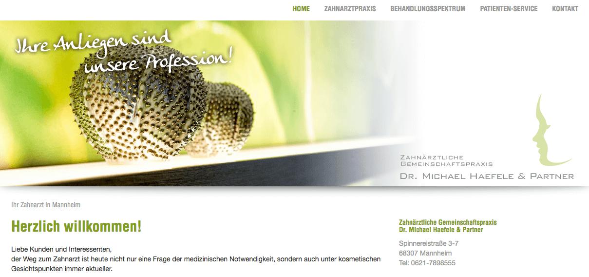 Zahnärztliche Gemeinschaftspraxis Dr. Michael Haefele & Partner