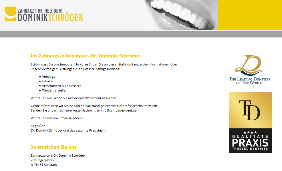 Zahnarztpraxis Dr. Dominik Schröder | Konstanz