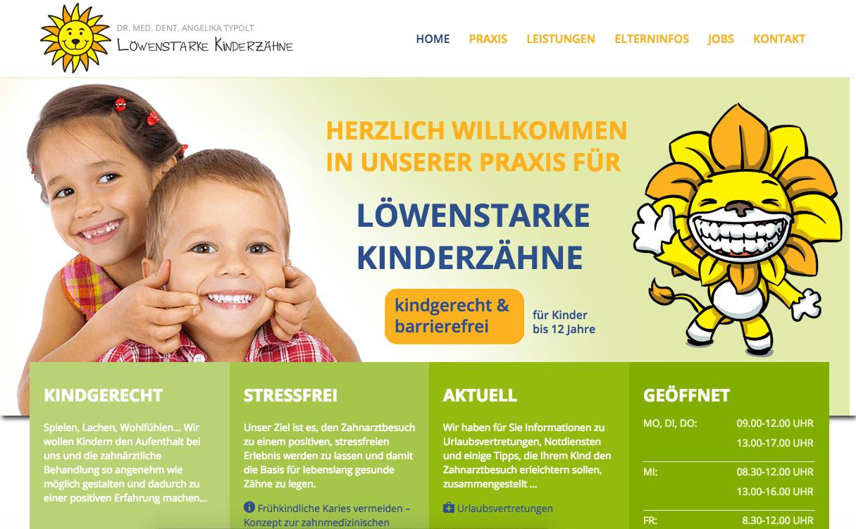 löwenstarke Kinderzähne - Kinderzahnarztpraxis Dr. med. dent Angelika Typolt