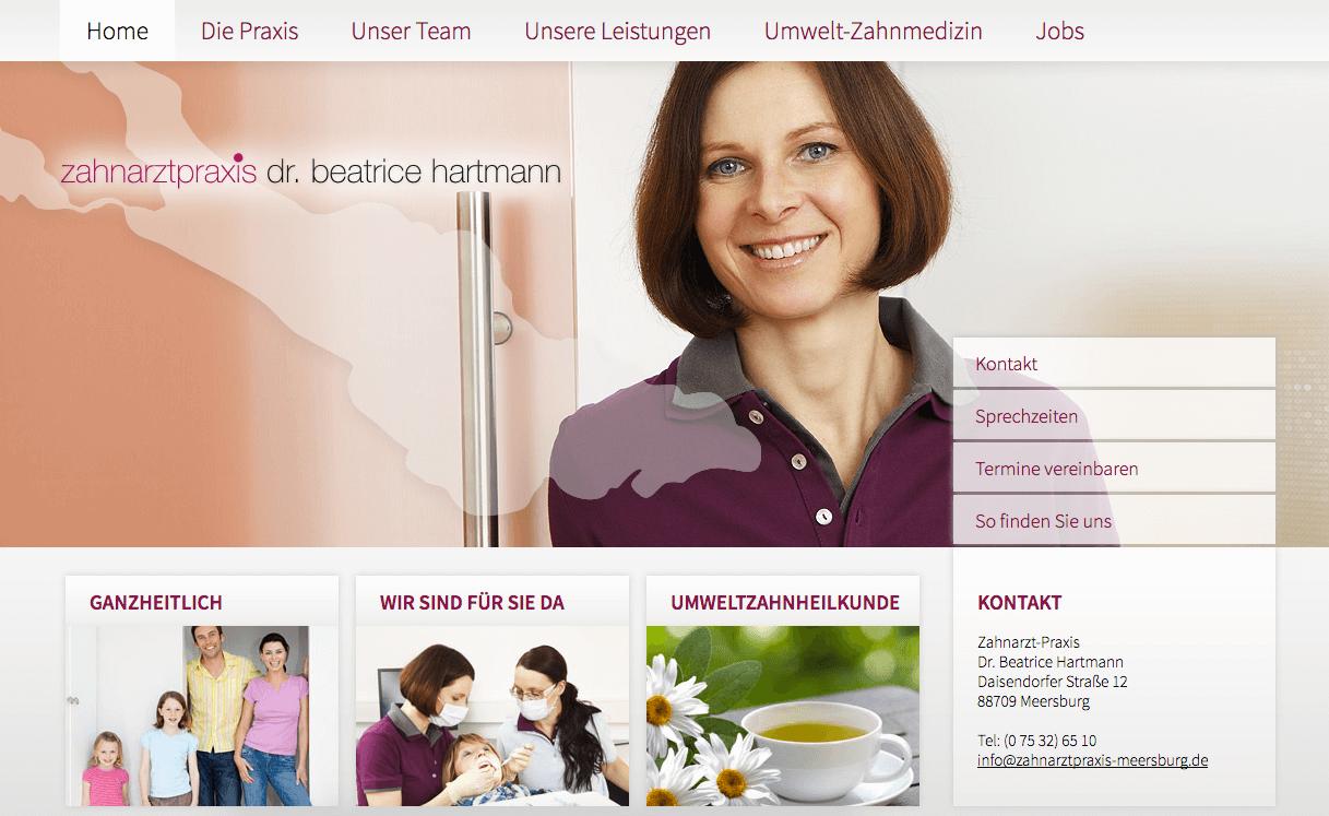 Zahnarztpraxis Dr. Beatrice Hartmann in Meersburg