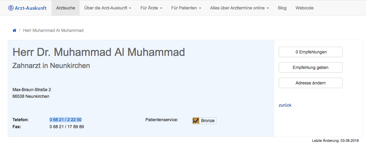 Herr Dr. Muhammad Al Muhammad