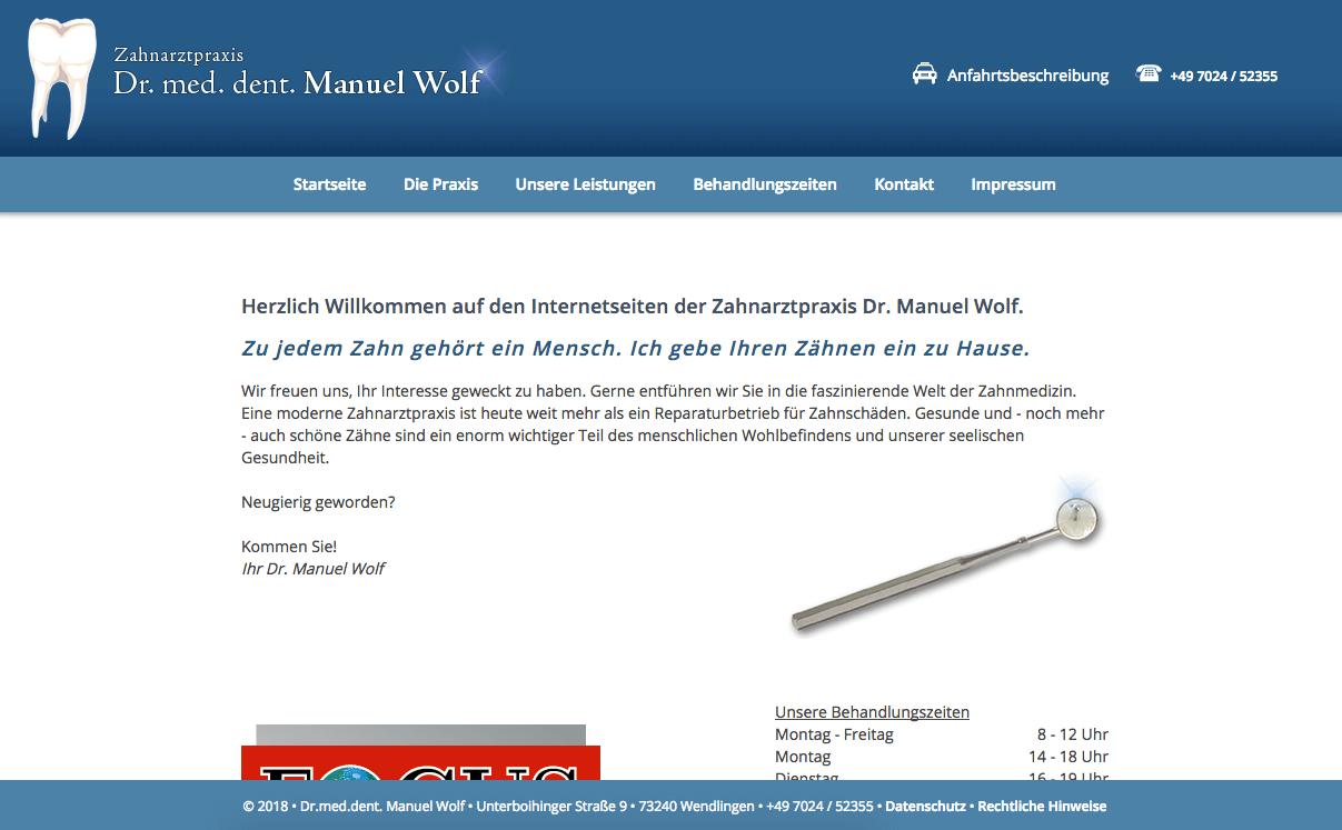 Zahnarztpraxis Dr. med. dent. Manuel Wolf