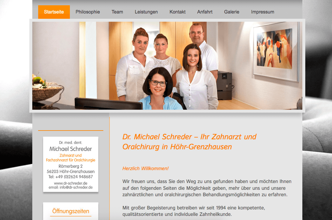 Zahnarzt und Fachzahnarzt für Oralchirurg Dr. Michael Schreder