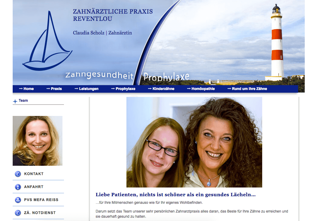 Zahnärztliche Praxisgemeinschaft Reventlou Claudia Scholz & Torsten Cordts