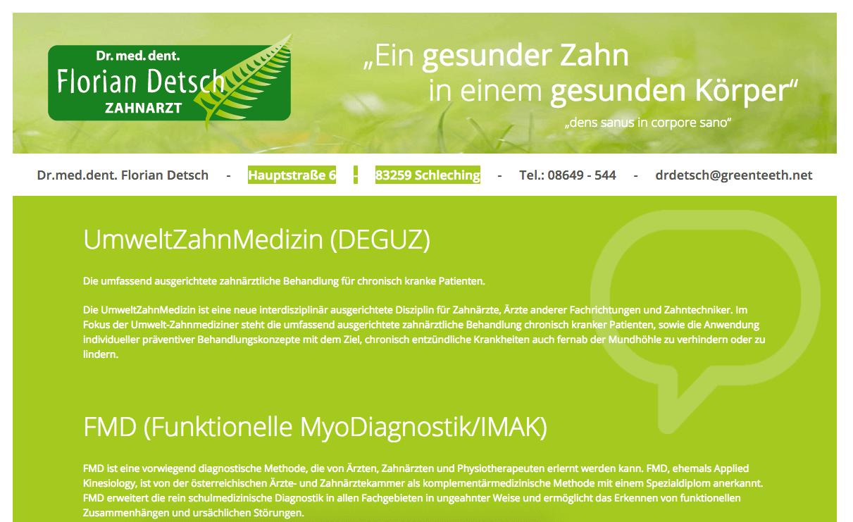 Zahnarztpraxis Schleching Dr.med.dent. Florian Detsch