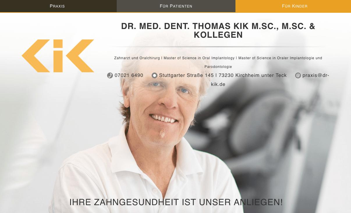 Praxis für Implantologie und Oralchirurgie Dr. med. dent Thomas Kik M.Sc.