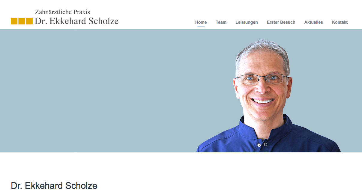 Zahnärztliche Praxis Dr. Ekkehard Scholze