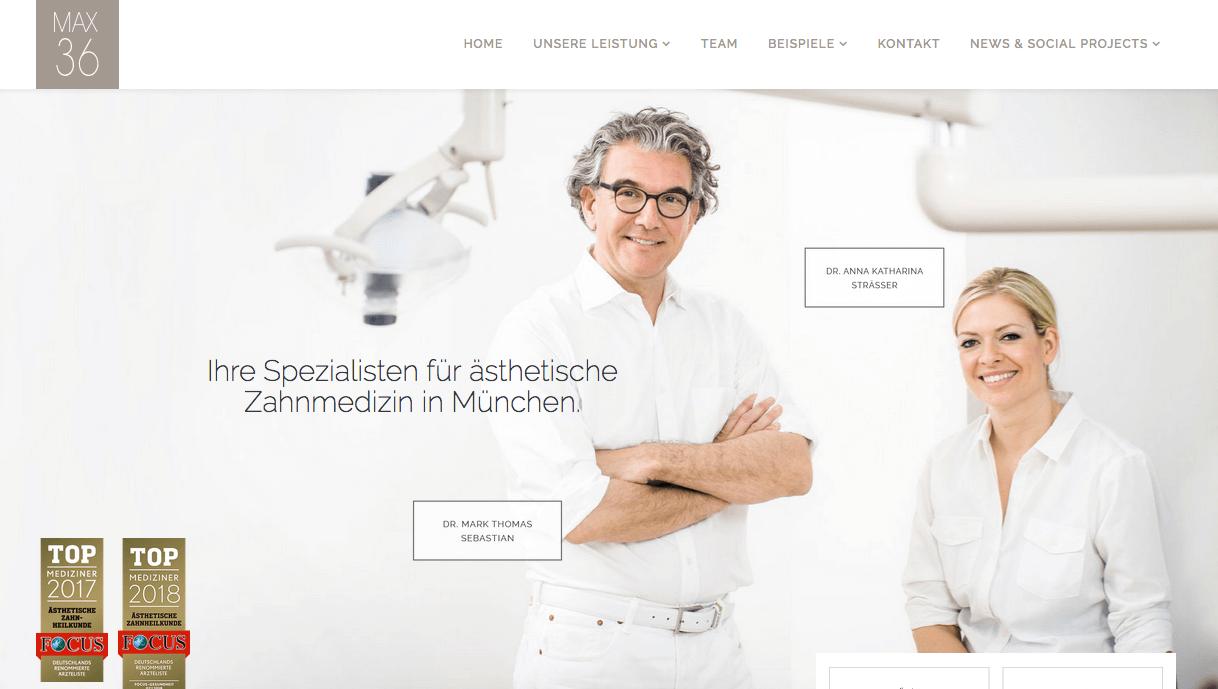 MAX 36 - Zahnarzt Praxis für ästhetische Zahnmedizin und Funktion Dr. Mark T. Sebastian