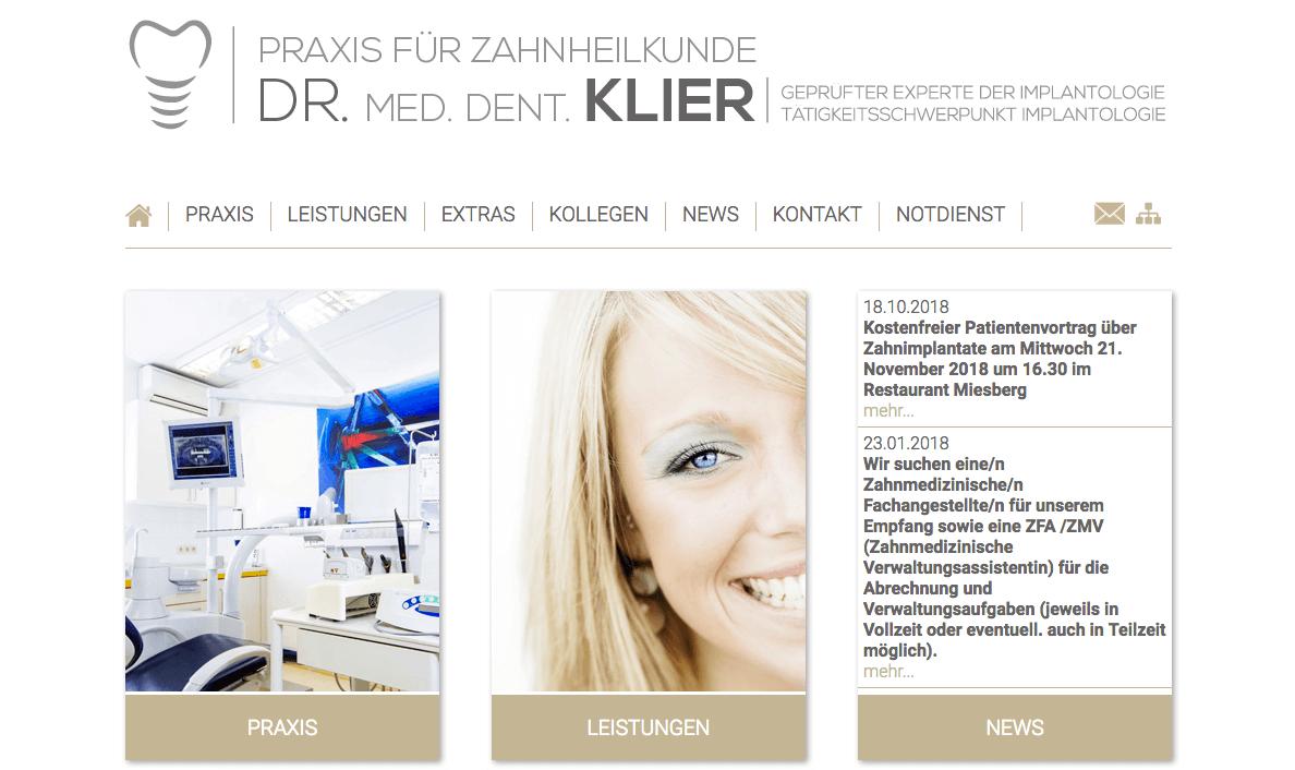 Zahnärztliche Gemeinschaftspraxis Dres. Wolfgang und Jörg Klier