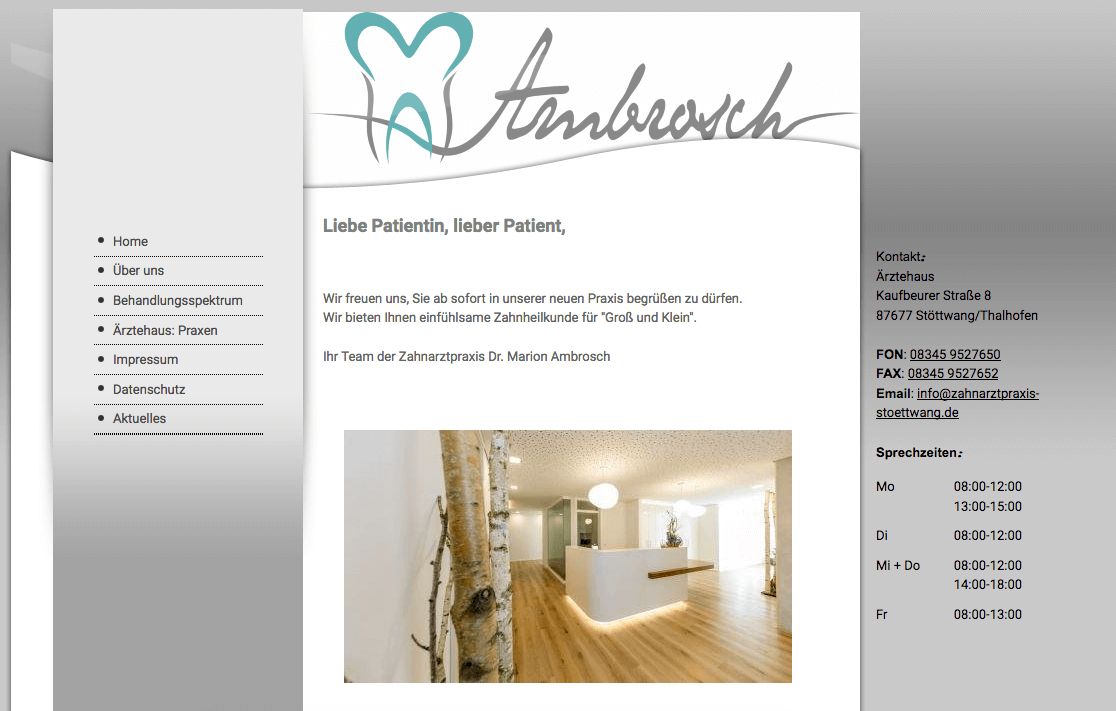 Zahnarztpraxis Stöttwang Dr. Marion Ambrosch