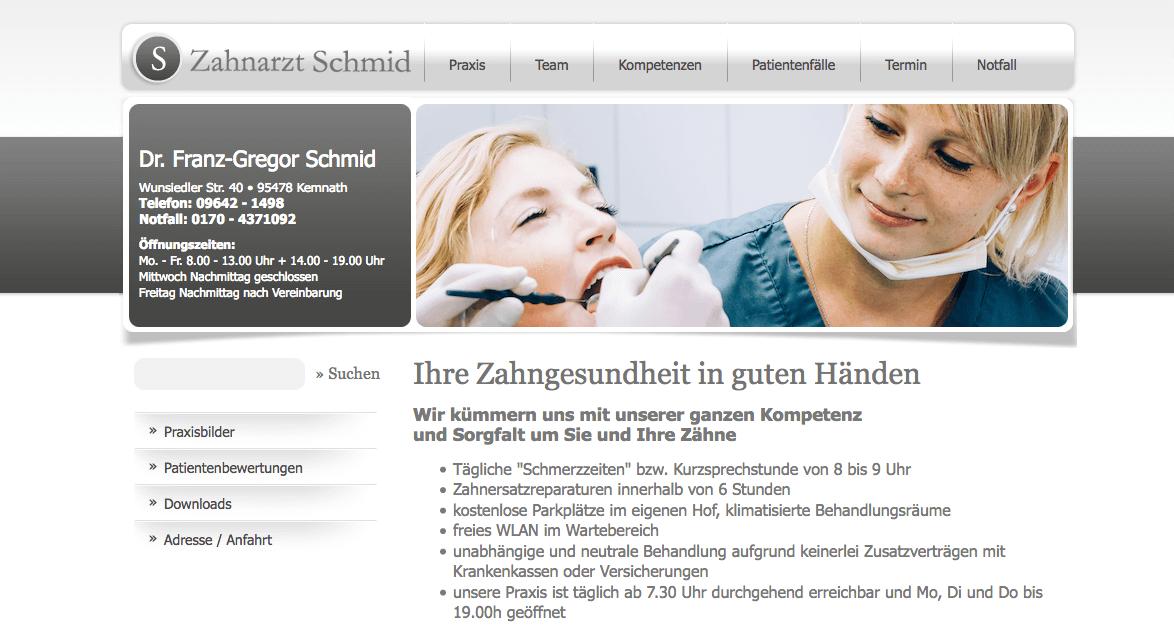 Zahnarzt Praxis Dr. Franz-Gregor Schmid aus Kemnath