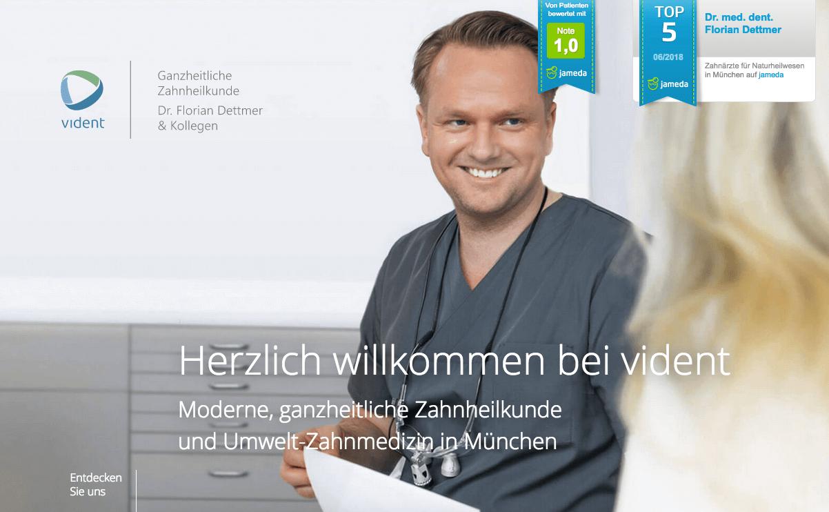 vident - Ganzheitlicher Zahnarzt Dr. Florian Dettmer