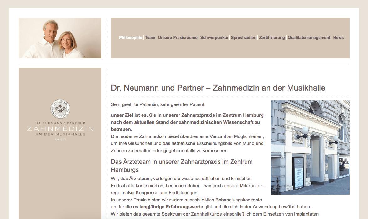 Zahnmedizin an der Musikhalle Dr Neumann und Partner
