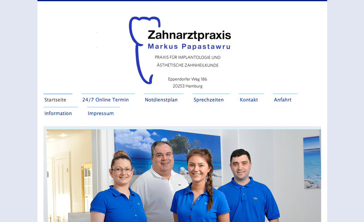 Zahnarztpraxis Eppendorf Markus Papastawru