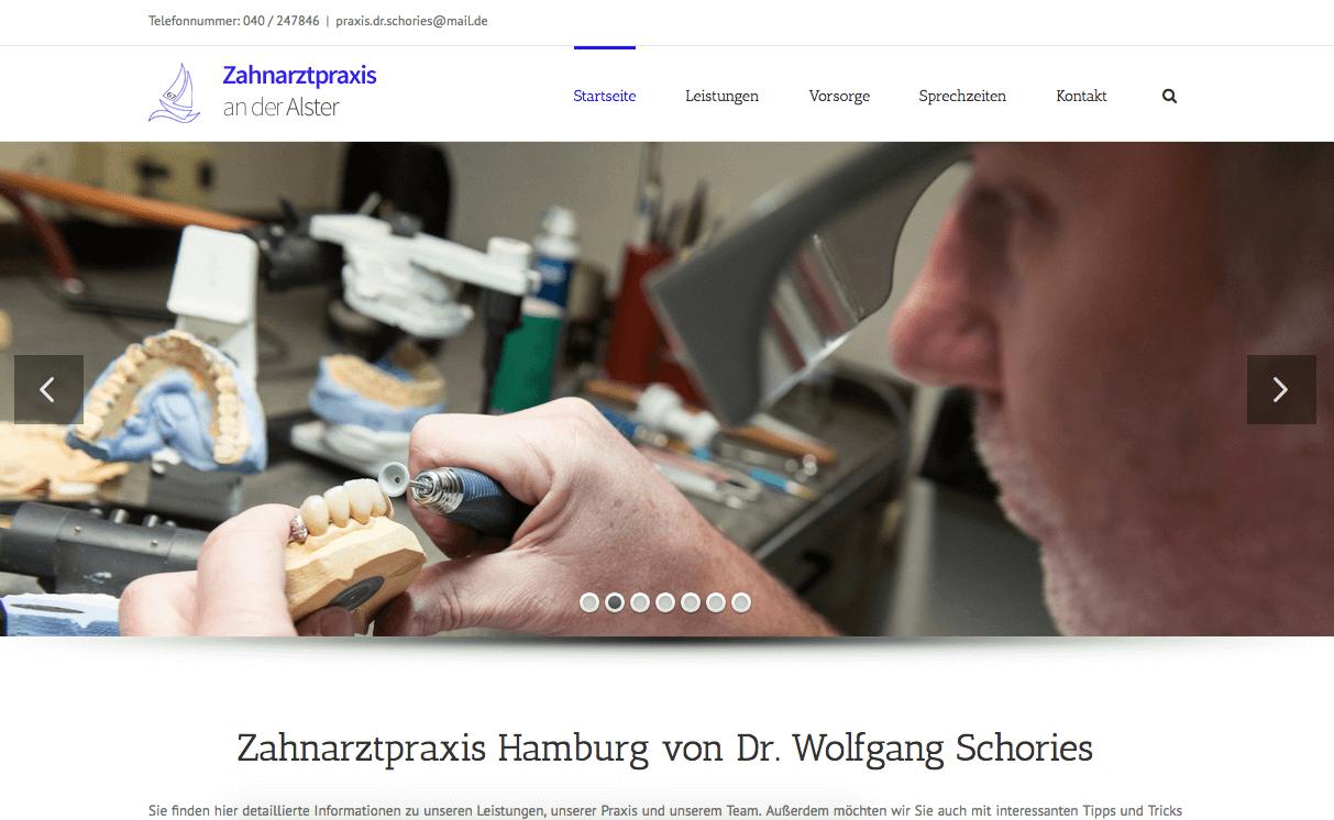 Zahnarztpraxis an der AlsterDr. Wolfgang Schories