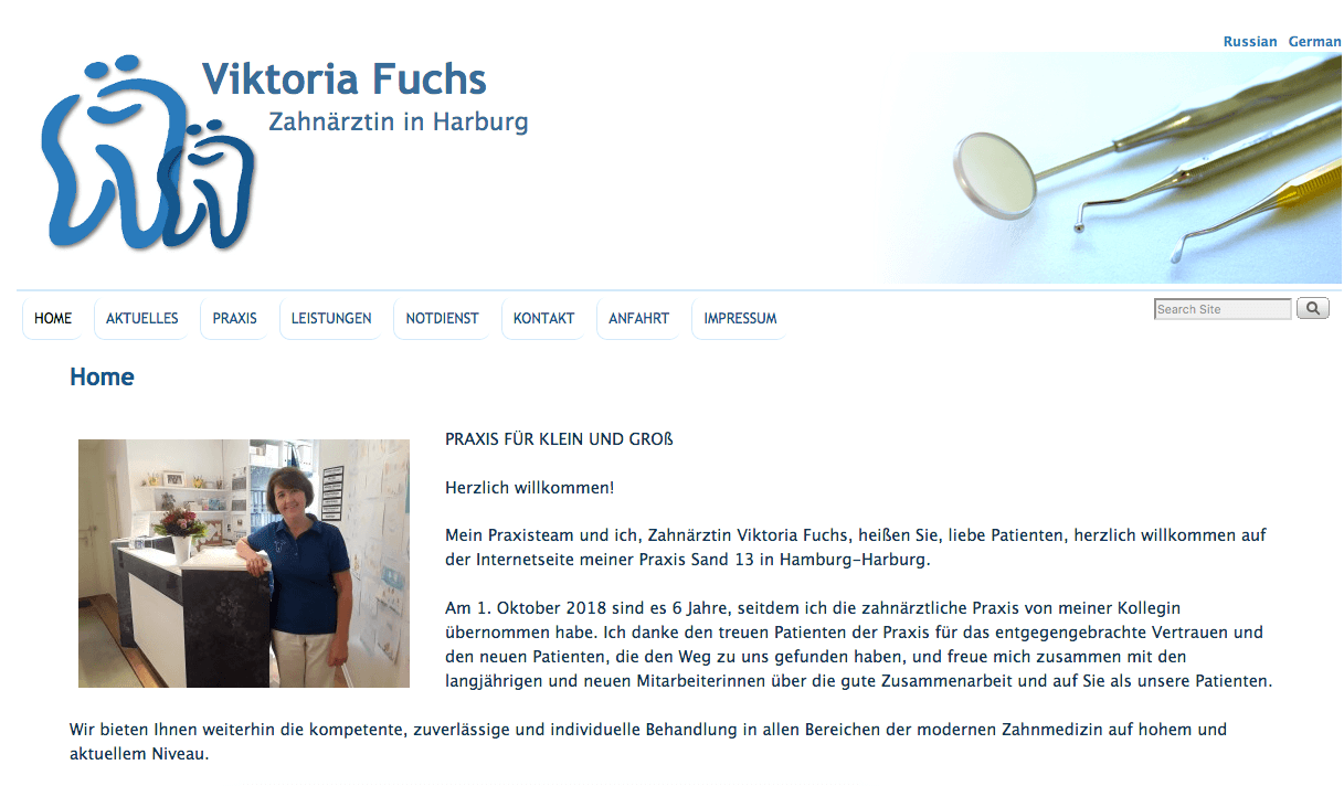 Zahnarztpraxis Viktoria Fuchs in Harburg