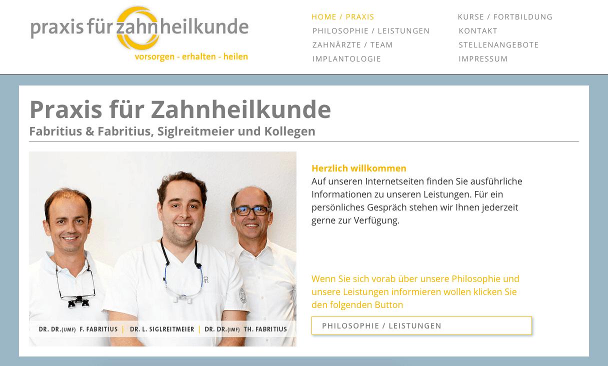 Praxis für Zahnheilkunde, Fabritius & Fabritius, Siglreitmeier und Kollegen