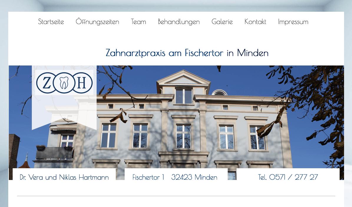 Zahnarztpraxis am Fischertor in Minden Dr. Vera und Niklas Hartmann
