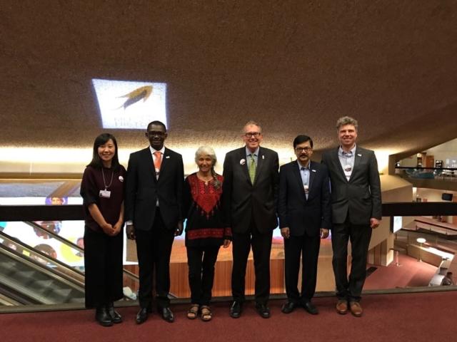 Die World Alliance for Mercury Free Dentistry https://mercuryfreedentistry.net/ Lingling Yao (Asien), Dominique Bally (Afrika), Maria Carcamo (Lateinamerika), Charlie Brown (President,US), Dr. Shahriar Hossain (Südost-Asien), Florian Schulze (Europa)