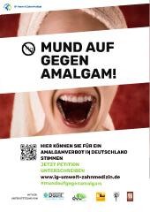 Plakat Mund auf gegen Amalgam